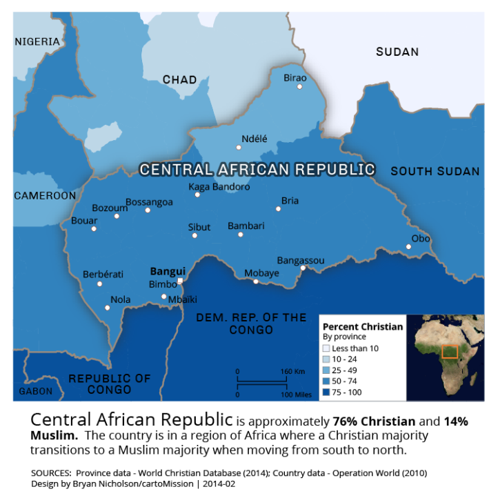 Religious Landscape Of The Central African Republic Cartomission