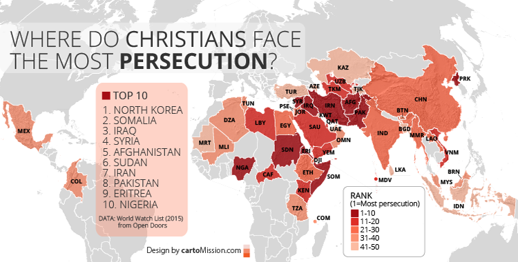 Christians Facing Persecution Cartomission